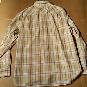 Banana Republic Shirts - Banana Republic Tan Plaid Shirt. L